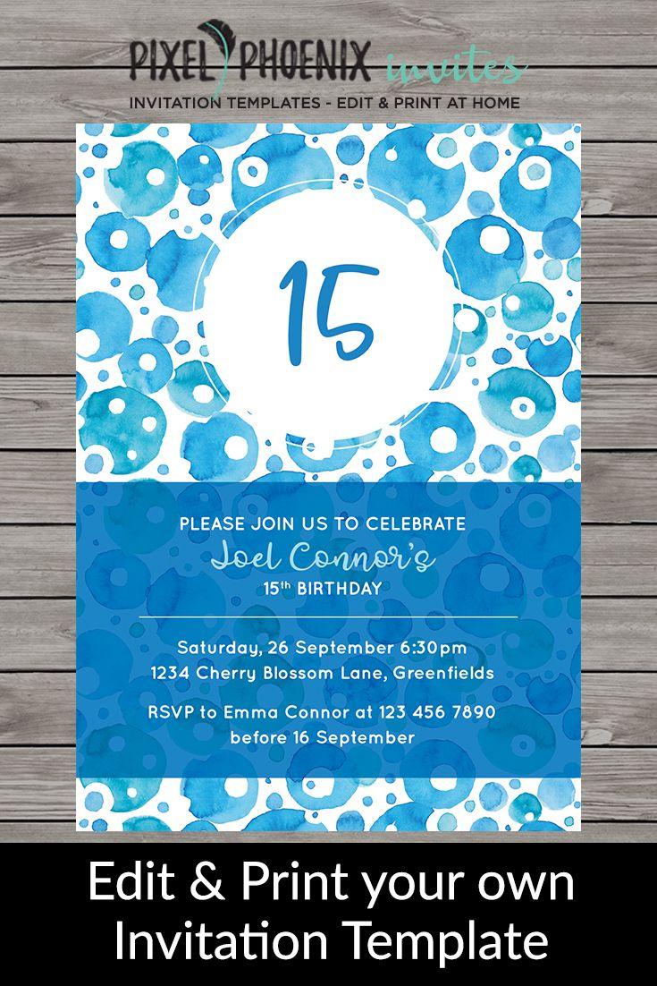 Boy\'s Birthday Invite, Kid\'s Birthday Invite, Any Age Invite, Boy ...