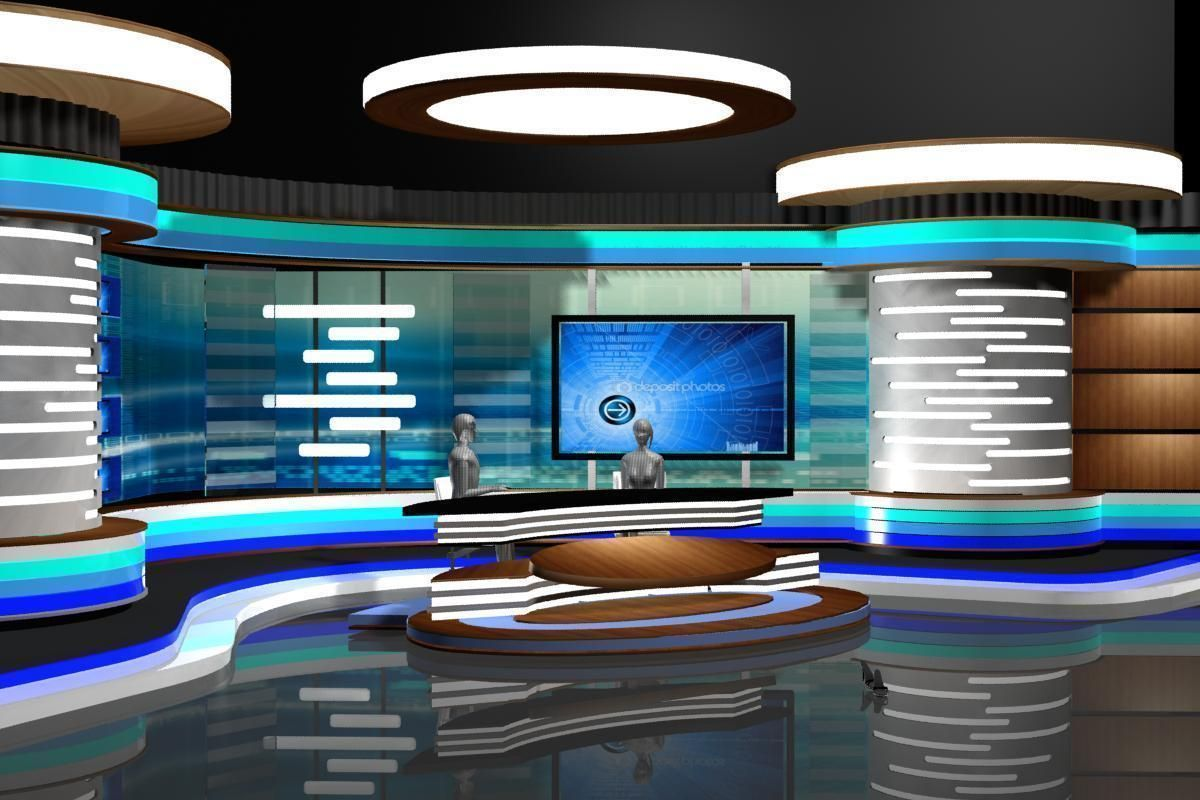 Tv News Room Studio 002 3d Model Max Obj 3ds Fbx Dxf Dwg Jpg 1200  # Maroc New Tv