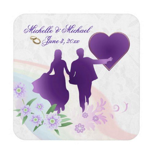 Cork Wedding Memory: Custom Bride And Groom Keepsake Cork Coasters #2