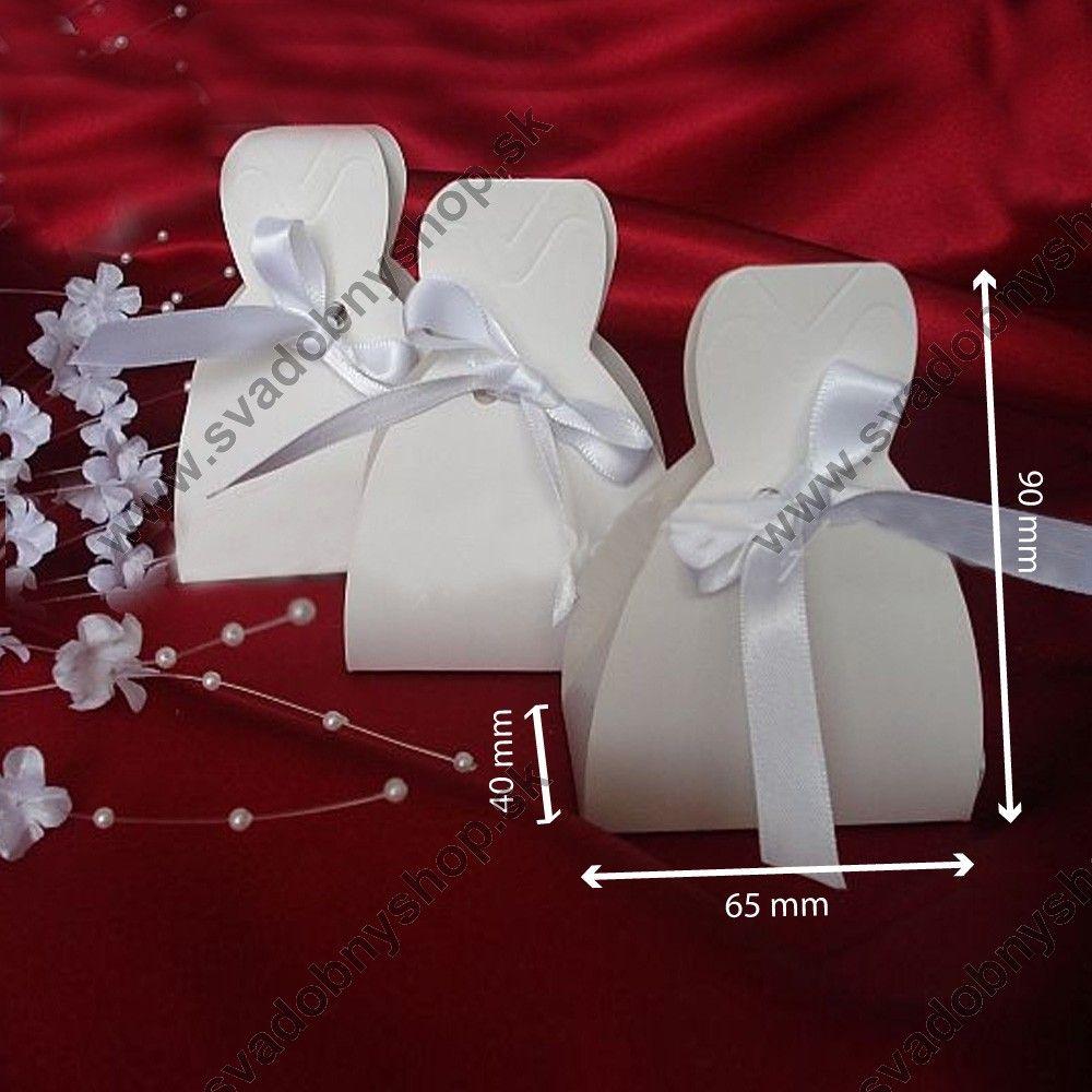 Dárková krabička DRESS 6,5 x 9 x 4 cm (10 ks/bal) - Darčekové krabičky - Svadobné dekorácie - Svadobná výzdoba