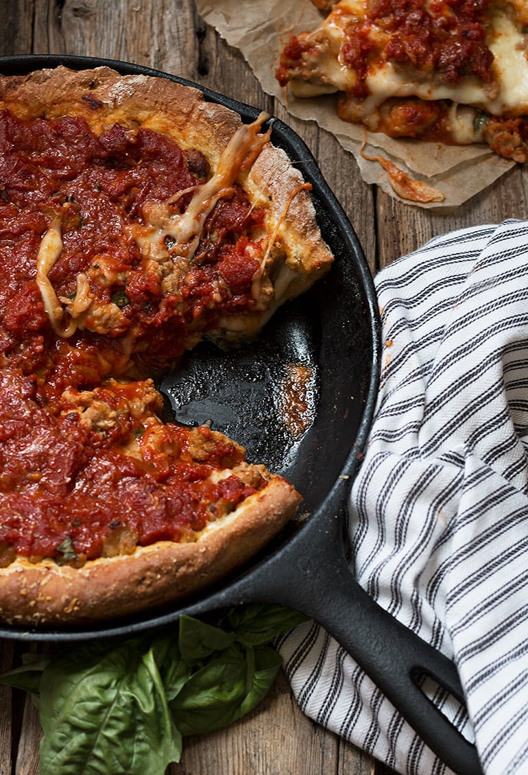 Cast Iron Skillet Deep Dish Pizza Recipe Cast Iron Recipes