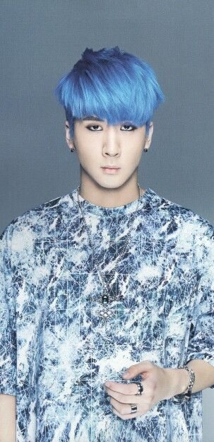 Ravi With Blue Hair Is Just Blue Hair Men Hair Color Mens Hair Colour