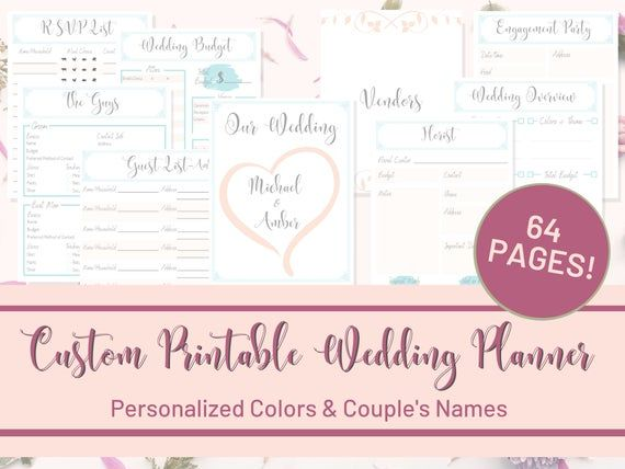 Wedding Organizer, Wedding Planner Book, Wedding Tracker, Wedding To Do List, Wedding B ...