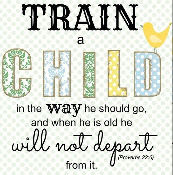 train up a child bible verse