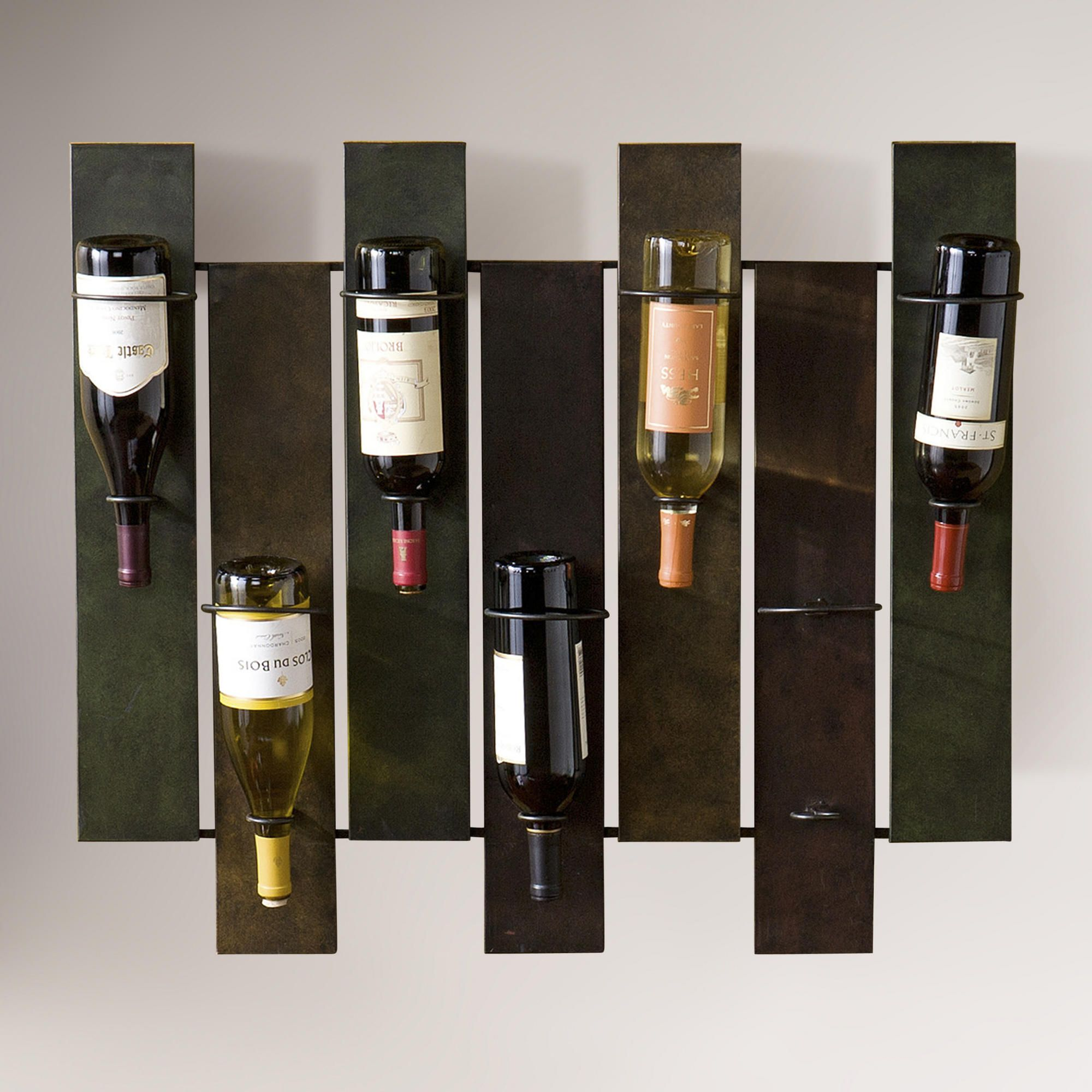 deco art holder small rack products com bottle iron countertop wine metal