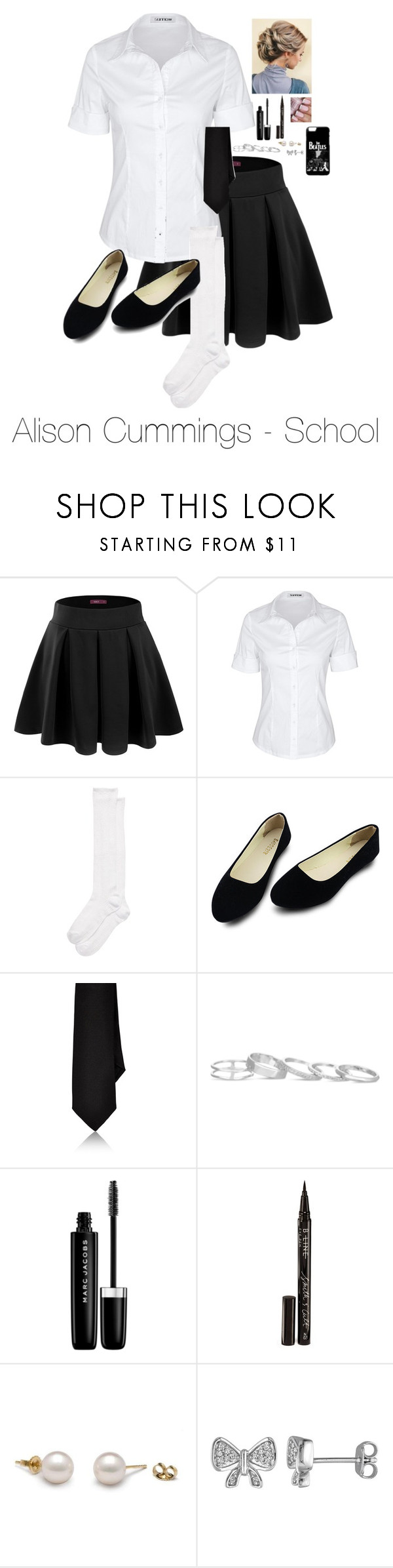 """""""Alison Cummings - School"""" by directioner-four-ever on Polyvore featuring Doublju, Kate Spade, Barneys New York, Kendra Scott, Marc Jacobs, Smith & Cult and Laura Ashley"""