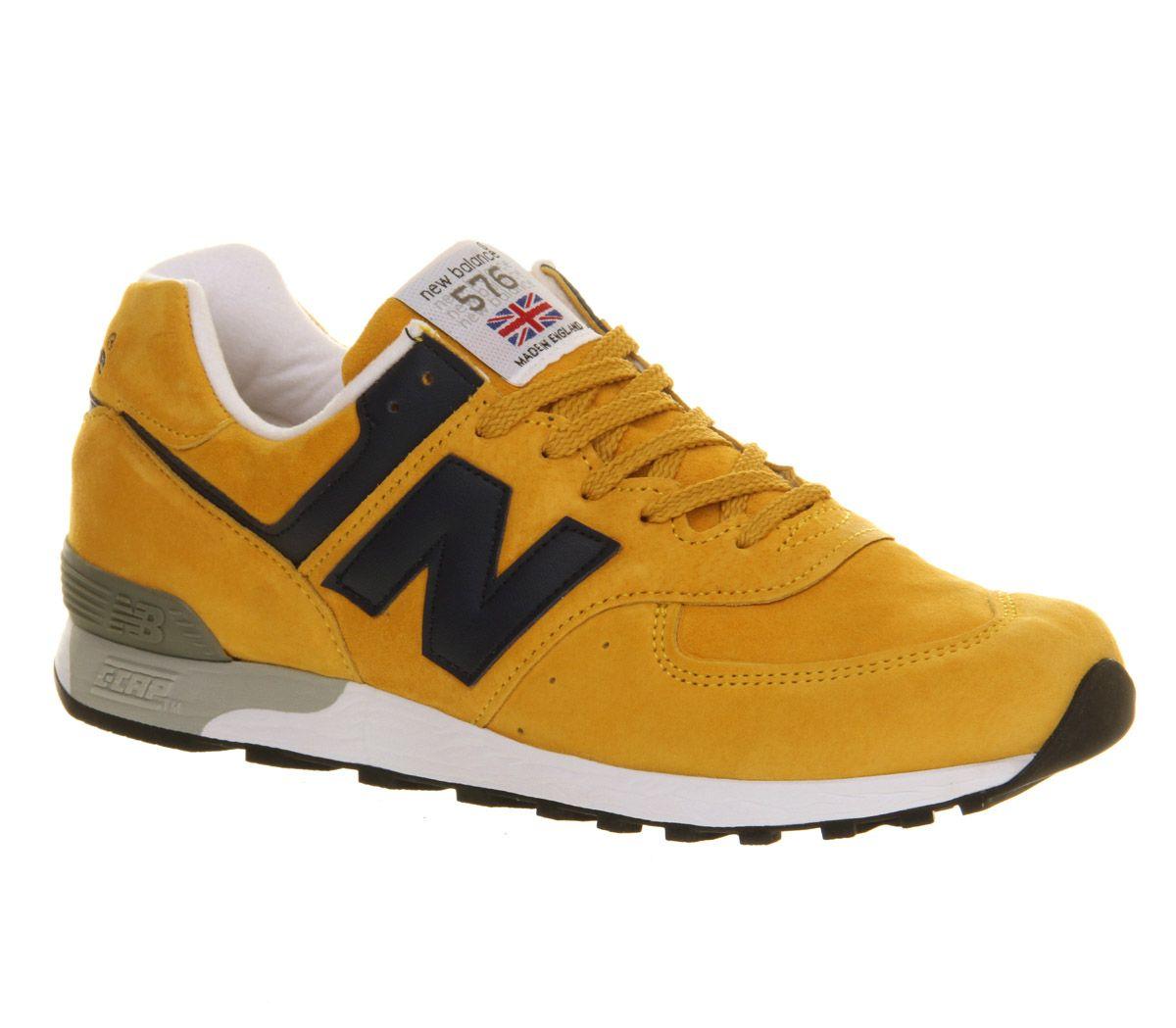 new balance made in england mustard yellow - (MUSTARD NAVY)