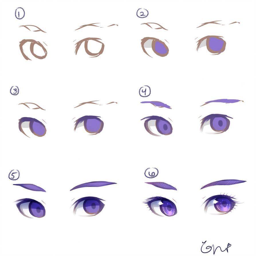 Eye tutorial by pockysticky digital art tutorial