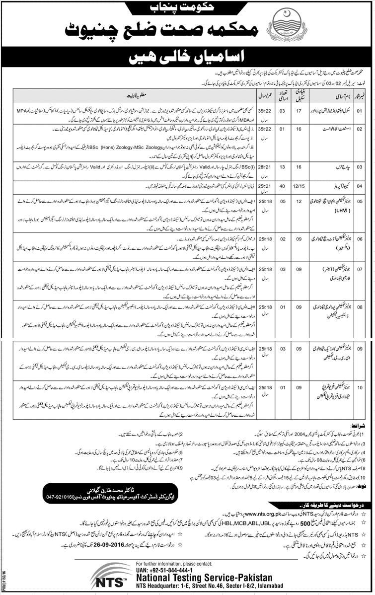 Jobs in Govt  of Punjab (Health Department) | Latest Jobs in