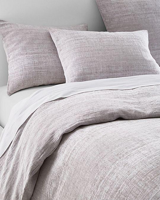 Eileen Fisher Ombre Cotton Linen Duvet Cover And Sham Linen
