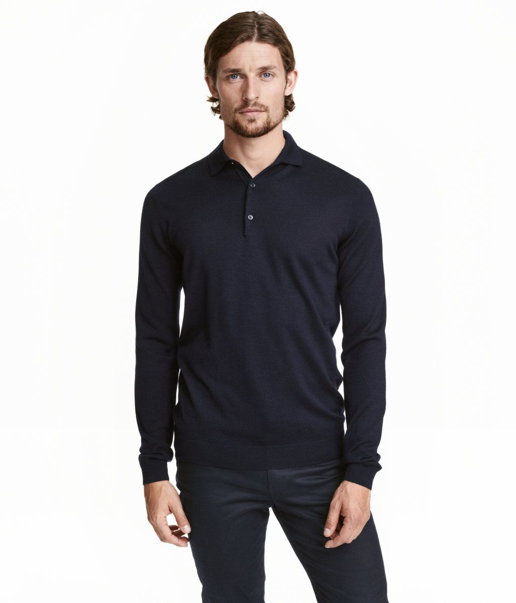 e9cfed4c Men's Polo Shirt Dark Blue L - Merona | Products | Polo outfit, Polo, Polo  t shirts