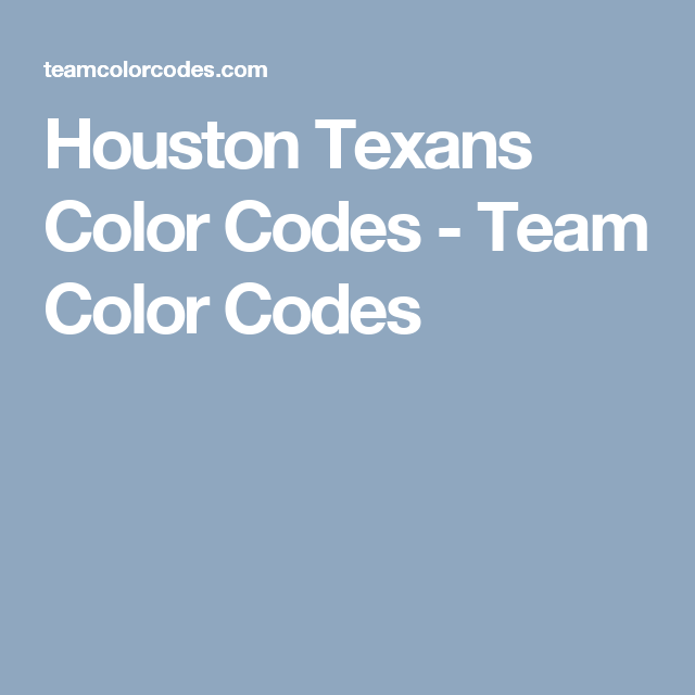 Houston Texans Color Codes Team Carolina Panthers Colors Rgb