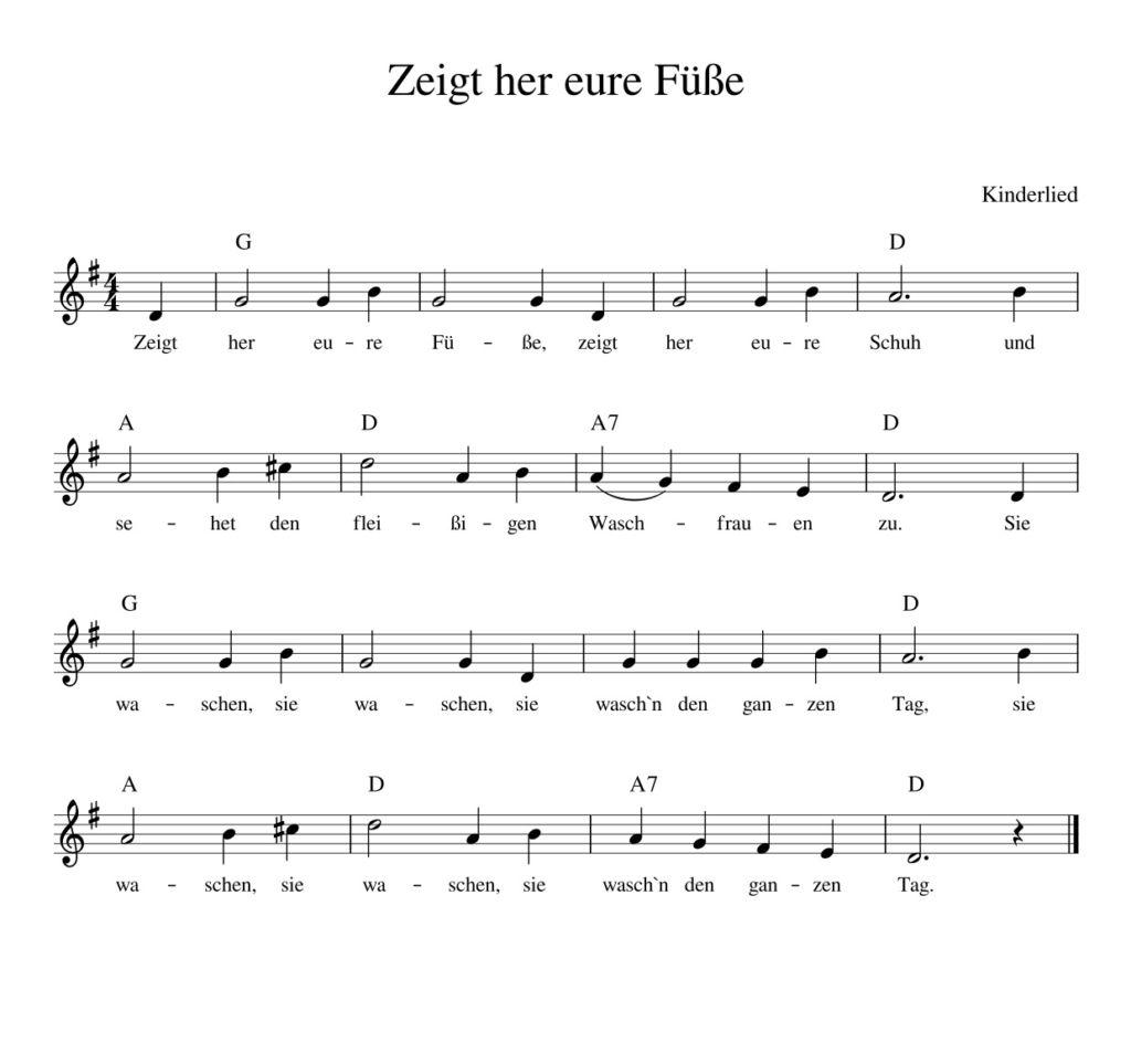 Zeigt Her Eure FГјГџe Lied