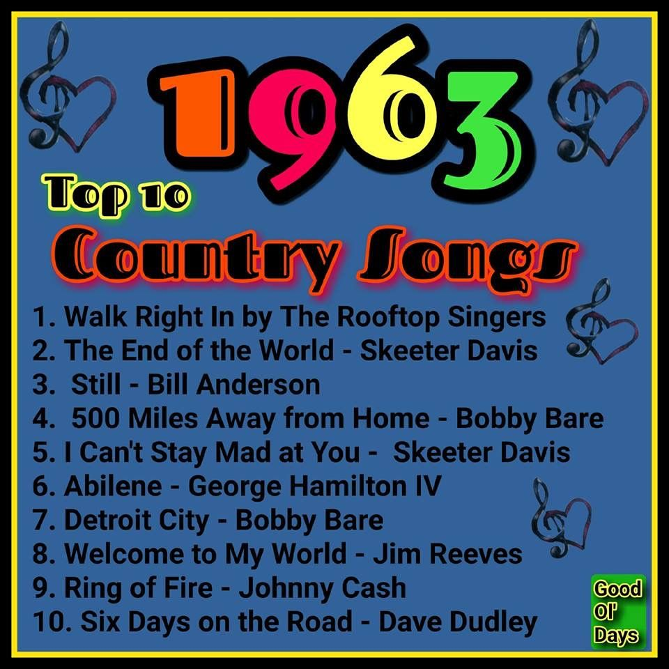 top country songs of 1963 my childhood old country music country music hits 60s music. Black Bedroom Furniture Sets. Home Design Ideas