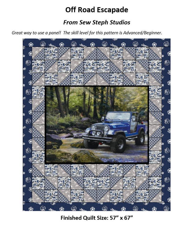 Off Road Escapade Quilt Pattern 63 X 73 5skill Etsy In 2020