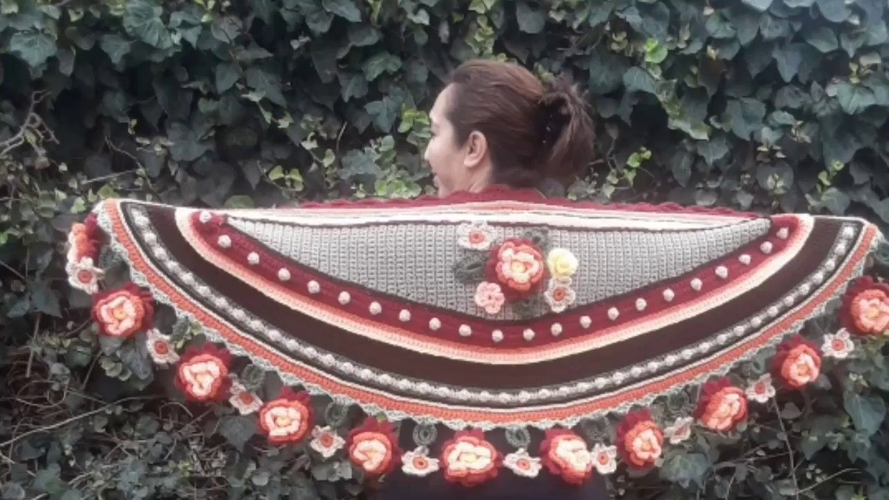Chal a crochet....MEDIA LUNA DE OTOÑO, 1a parte - YouTube | Mary S ...
