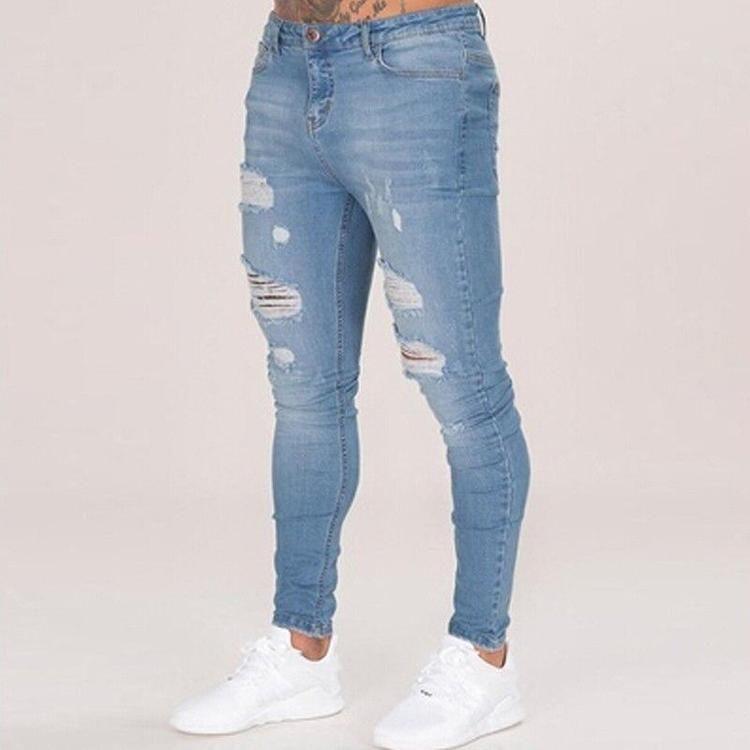 Pantalones Skinny Estilo Callejero Para Hombre Muy Populares Disponible En Dos Colores Si Hombres De Mezclilla Pantalones De Hombre Moda Ropa De Moda Hombre