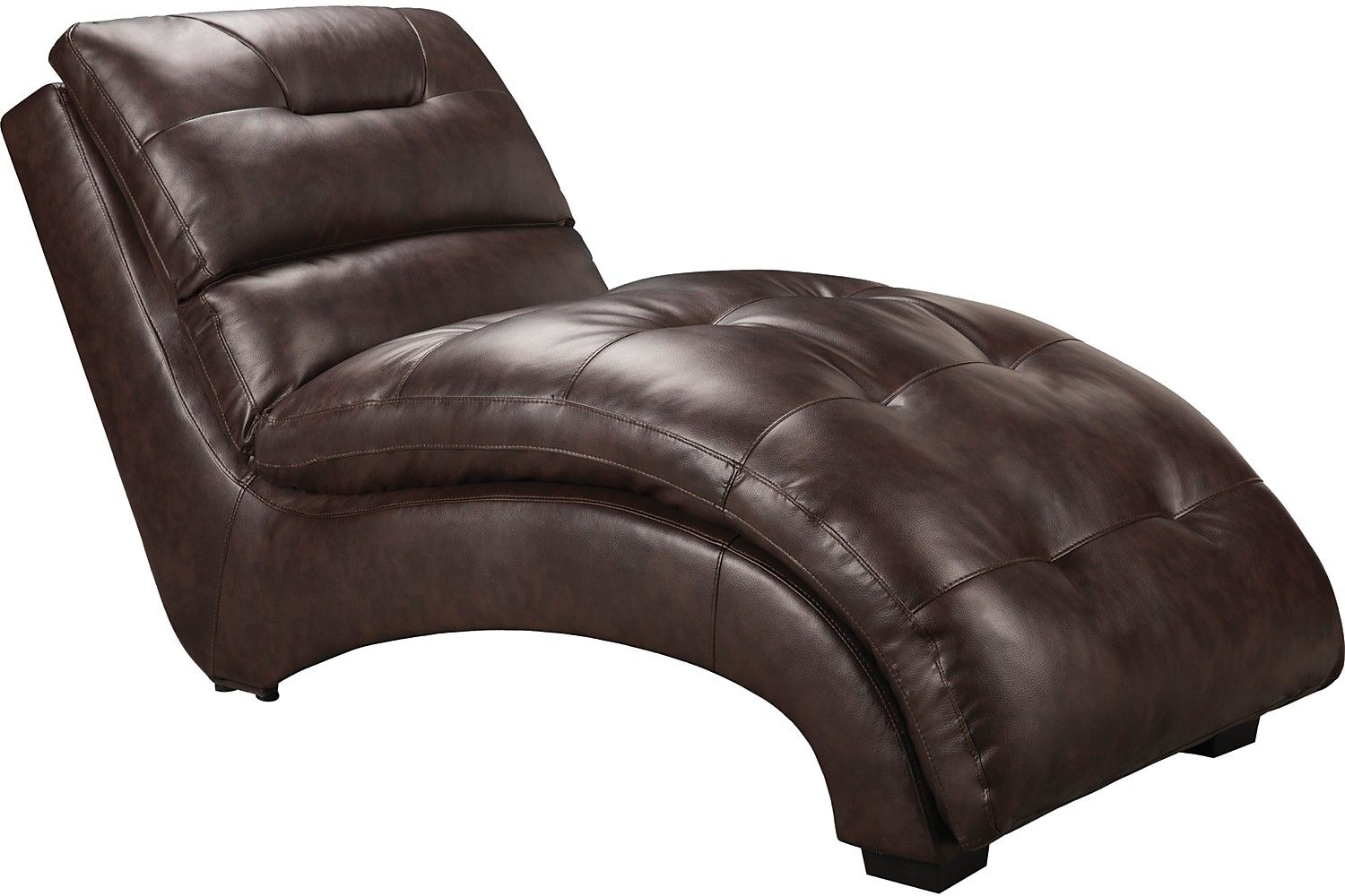 Charlie Faux Leather Curved Chaise - Brown  sc 1 st  Pinterest : faux leather chaise lounge - Sectionals, Sofas & Couches