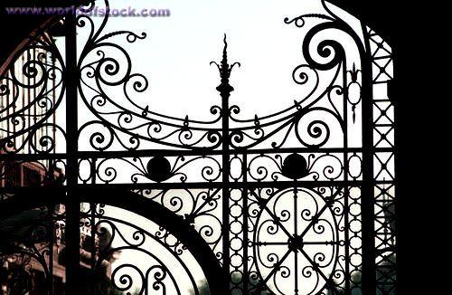 Close-up Of A Wrought Iron Gate Paris France