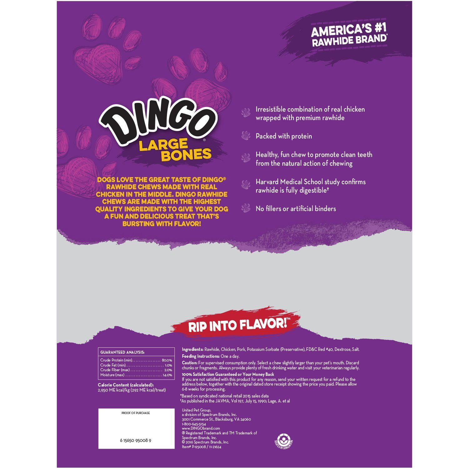 c30249866c01a Dingo Rawhide Bones for Large Dogs Chicken 3Count * Check out the ...