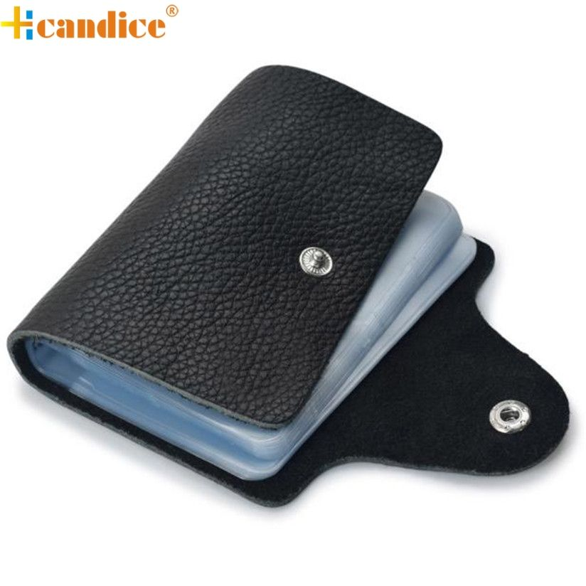 Hcandice Fashion Business Credit ID Card Leather Strap Buckle Bank ...