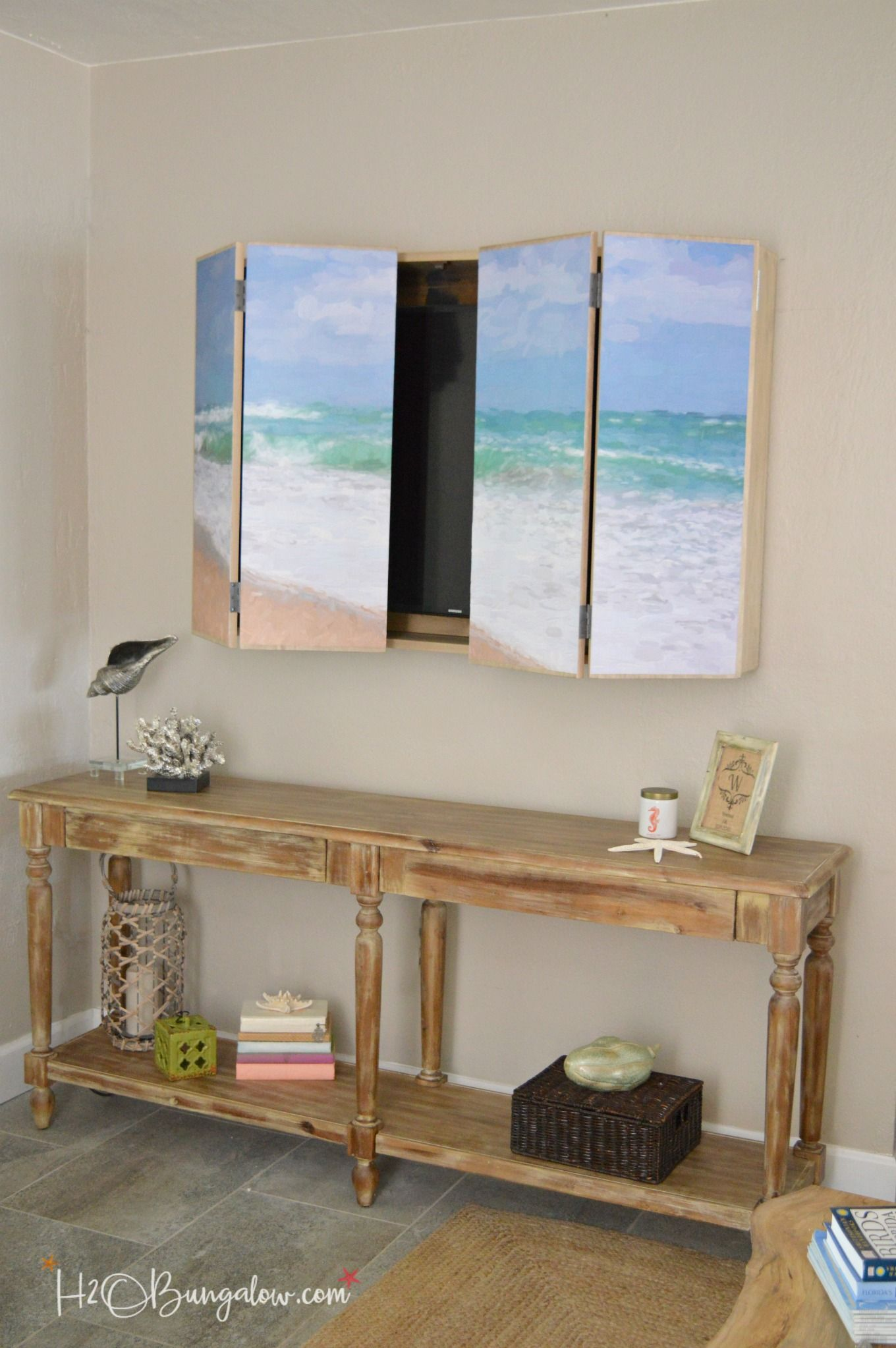 DIY Wall Mounted TV Cabinet with Free Plans  DIY  Hidden