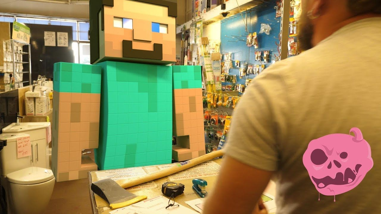 Minecraft Steve Vs Real Life Tree Trouble Short Sketch