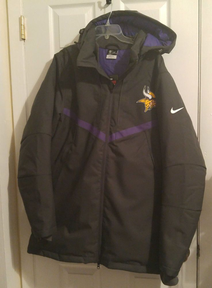 NEW Nike Minnesota Vikings Storm Fit 550 Parka Coat Jacket Mens Large L  638946  Nike  MinnesotaVikings fd33577f8