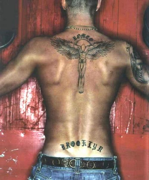 David Beckham Back Tattoo