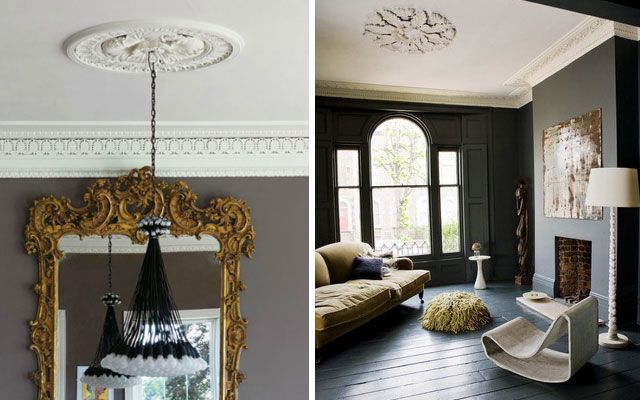 Rosetones y molduras de techo cl sicas para casas modernas for Casa clasica techo inclinado procrear