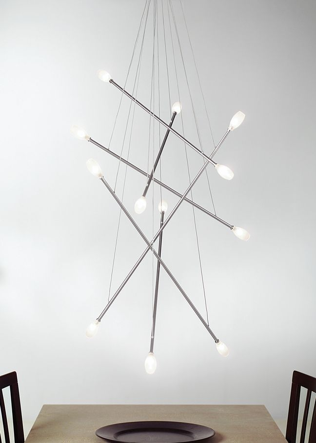The batons chandelier by lbl lighting