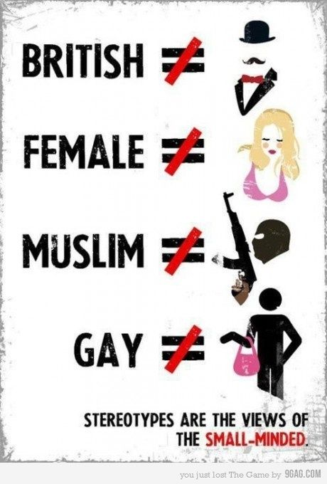 Dominant Culture & Stereotyping - [LINK] - This poster ...
