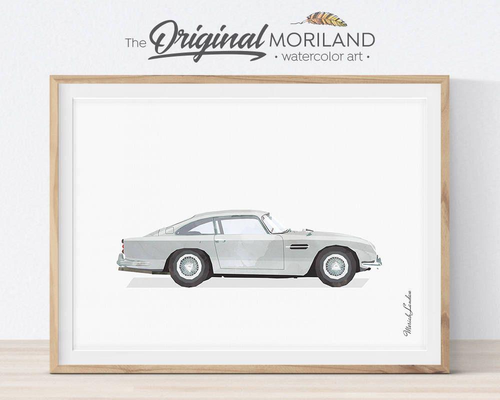 classic car print, car wall decor, transportation decor, car
