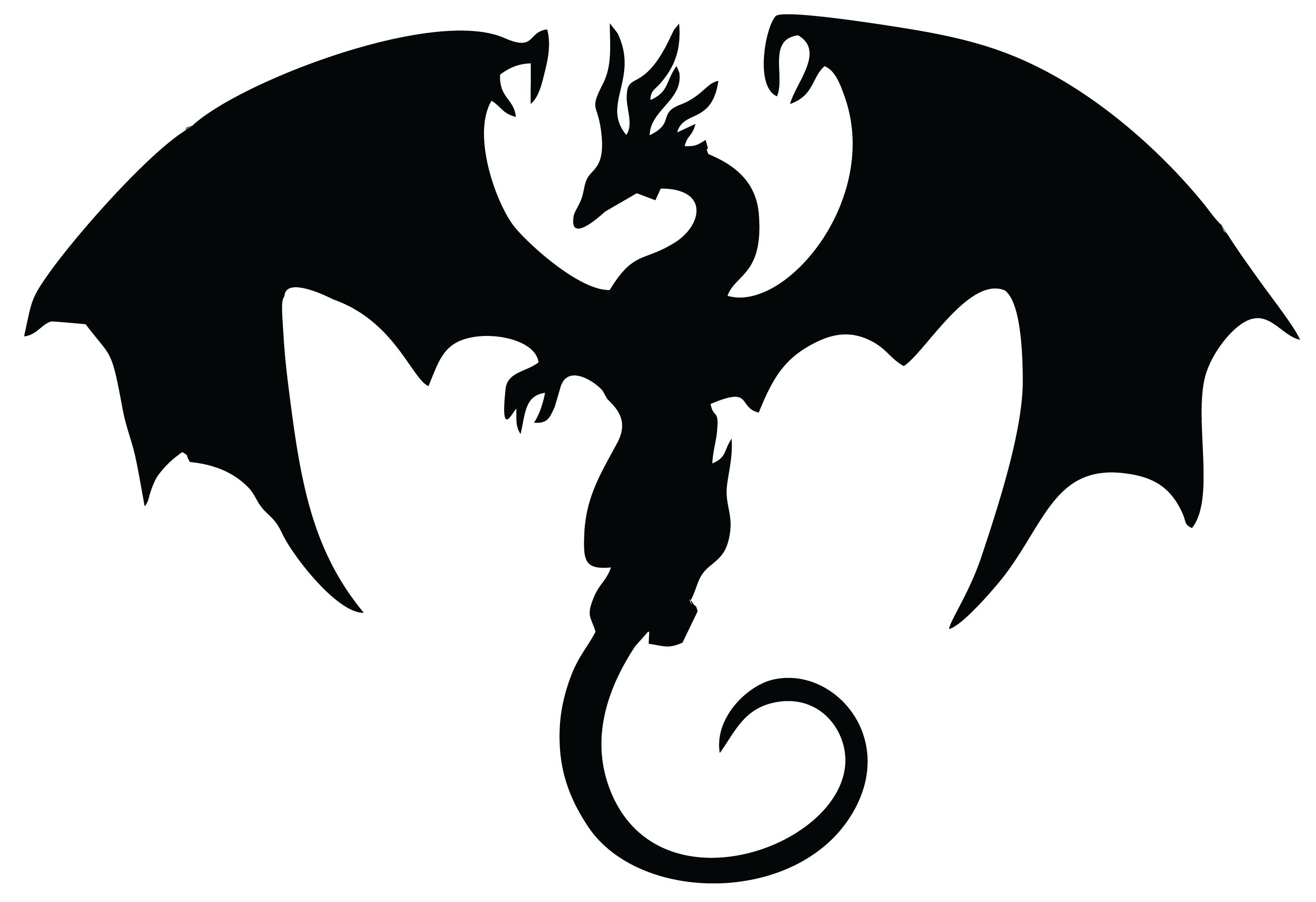 Dragon 3 (With images) Dragon silhouette, Silhouette