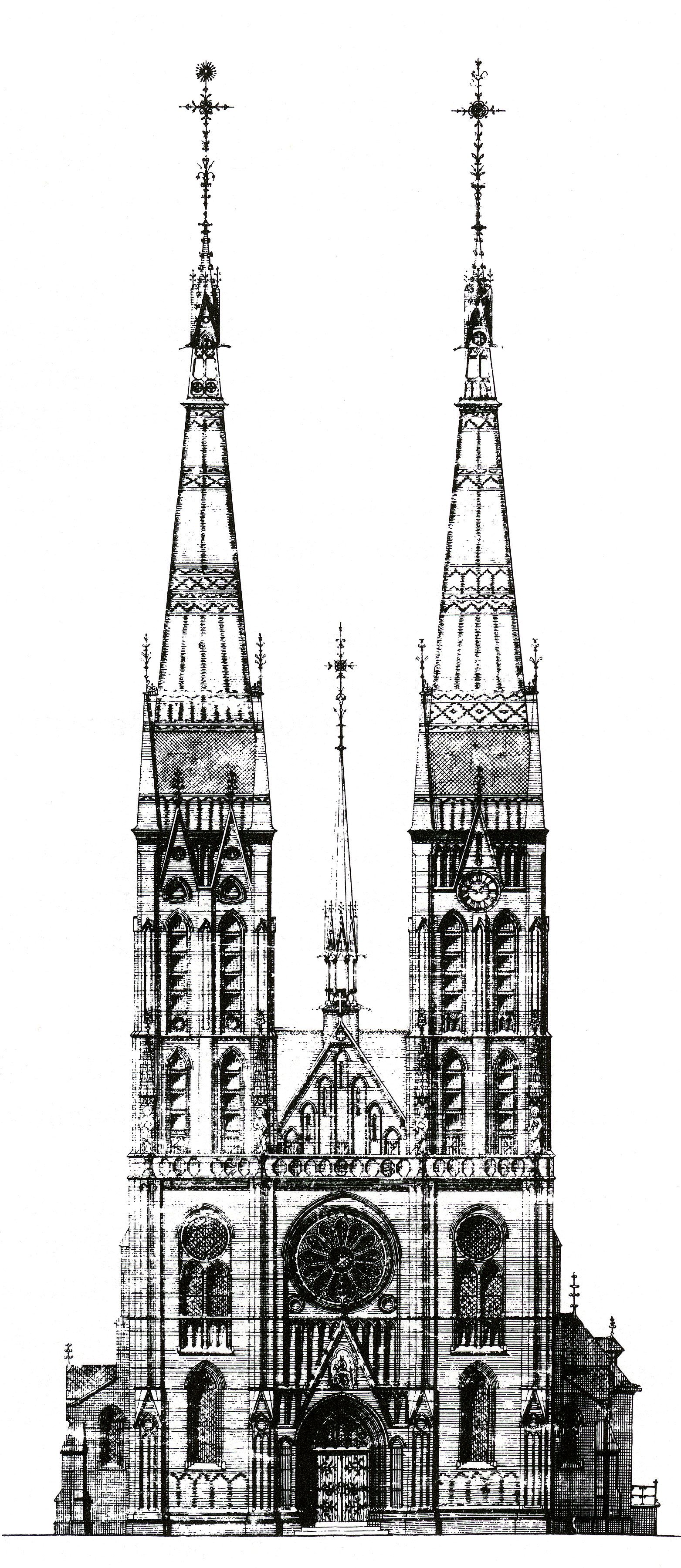 The Martinuskerk Of Tongelre Towers On This Drawing Were Never Completed For Actual
