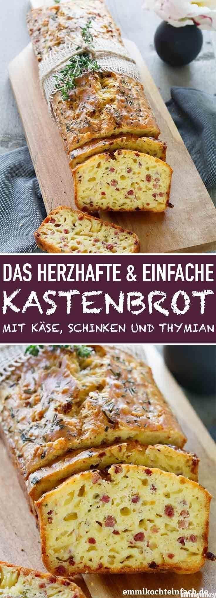 Herzhaftes Kastenbrot mit Käse, Schinken und Thymian | Mein liebstes kulinarisches Mitbri... -