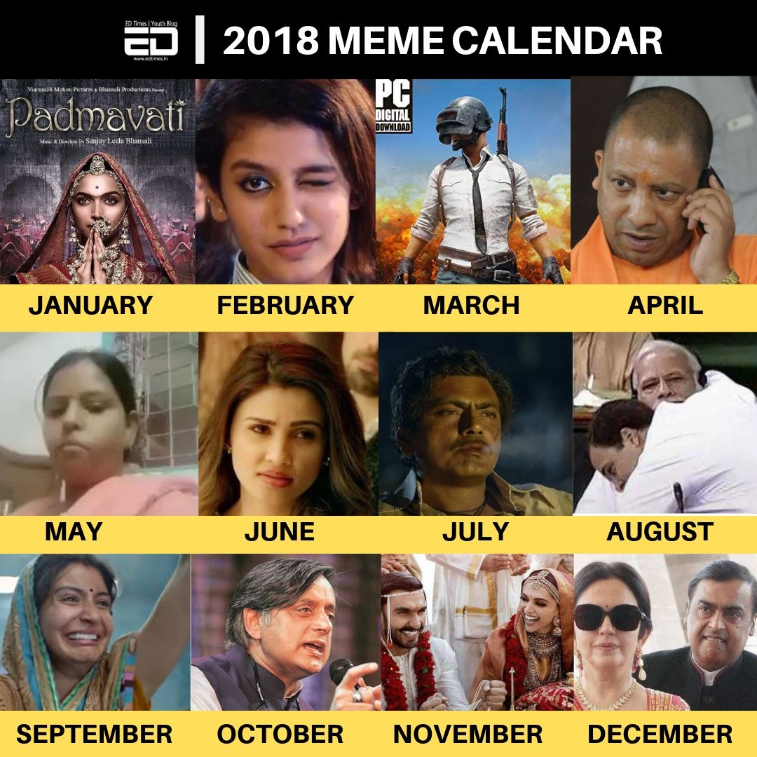 Meme Calendar 2020 India Meme calendar, Funny memes