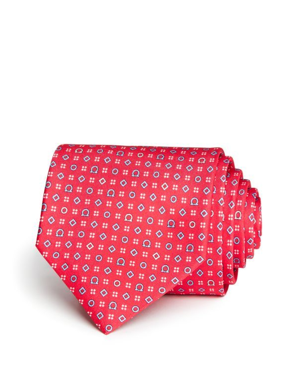 Salvatore Ferragamo Gancini, Diamonds and Dots Classic Tie