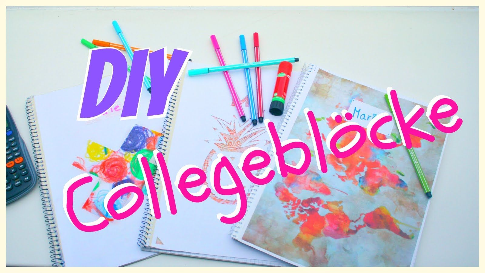 DIY Collegeblöcke für den Schulstart   MarieDIY