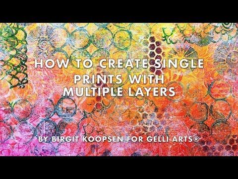 Hello and welcome to the Gelli Arts® blog! It's Birgit here and today I'm showing you how you can create multiple layers in one single prin...