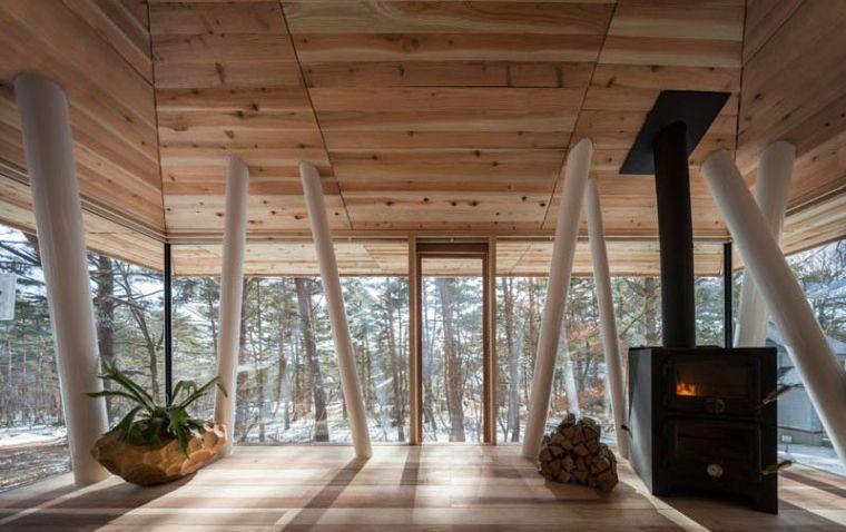 Cette maison sur pilotis s\'inspire de la tradition japonaise ...