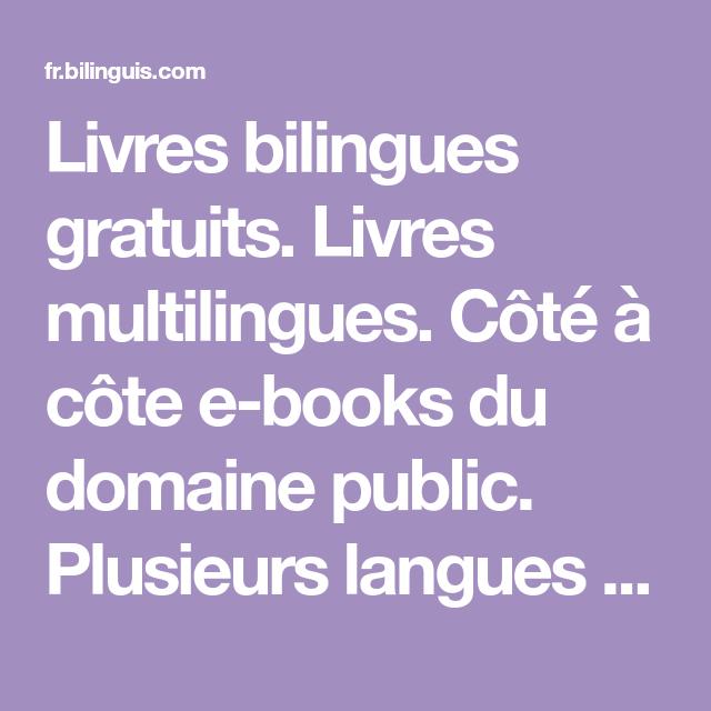 Livres Bilingues Gratuits Livres Multilingues Cote A Cote