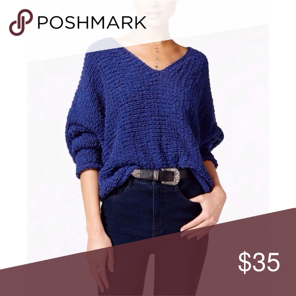 Free People Lofty V Neck Sweater My Posh Closet Pinterest