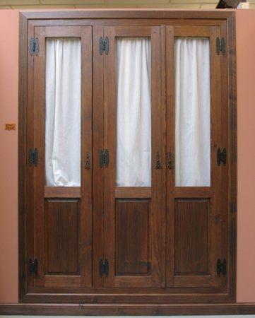 Puertas portones exteriores con cristaleras cerca amb - Armarios empotrados rusticos ...