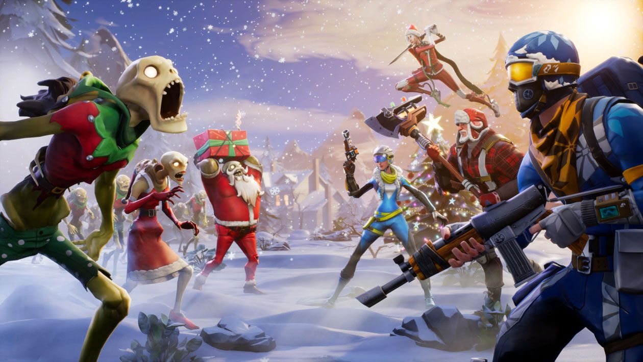 Holiday Key Art From Fortnite Illustration Artwork Gaming Videogames Fortnite Battle Royale Game Game Development Company