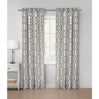 Home Maison Ashmont Gray Rod Pocket Panel Pair 40 In W X 84 In