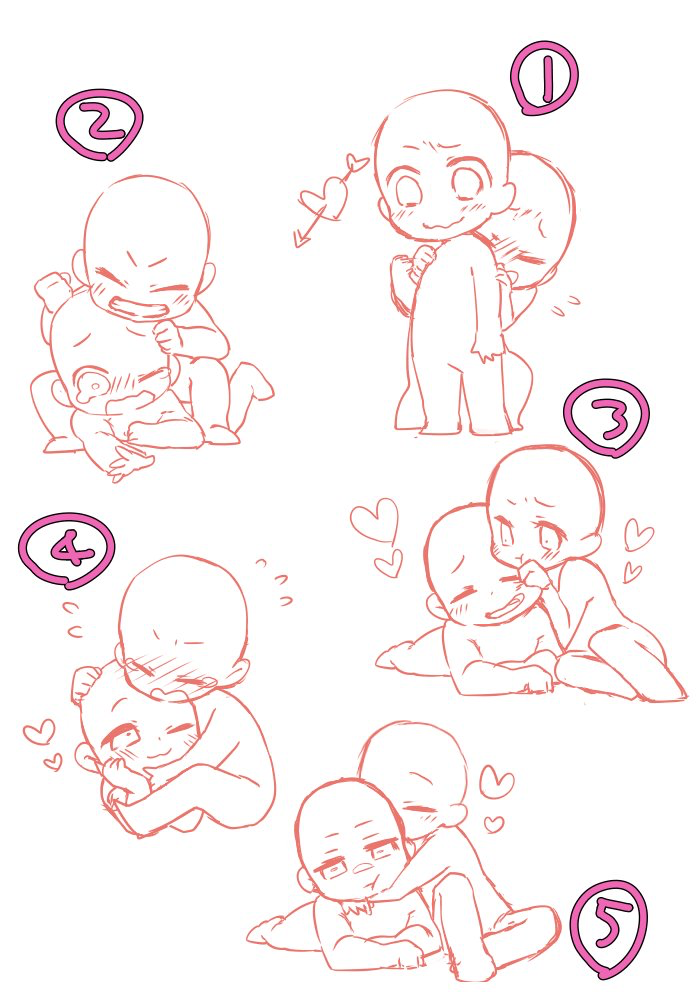 Chibi couple pose | How to draw ω | Pinterest | Chibi ...