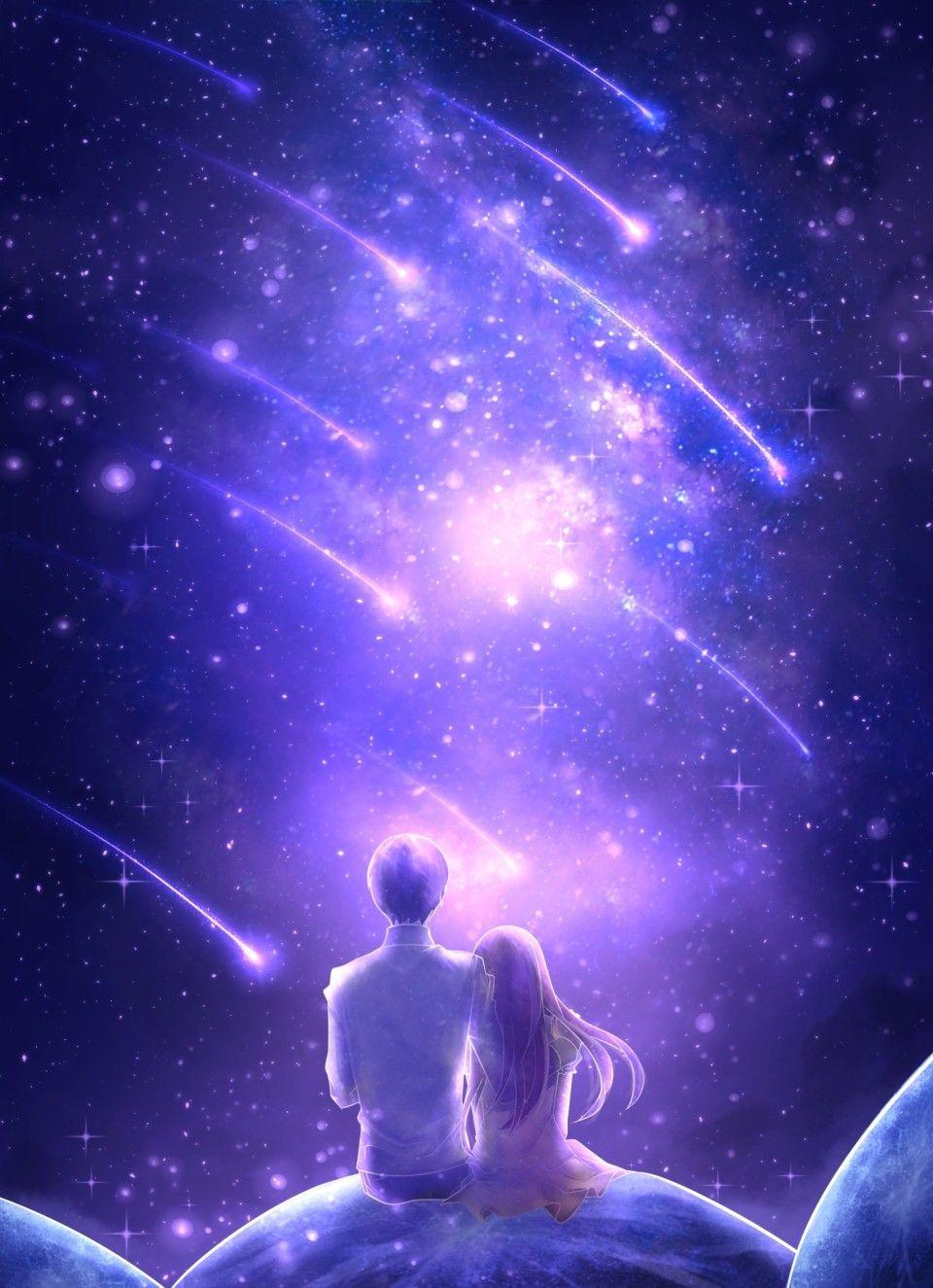 Anime galaxy wallpaper couple