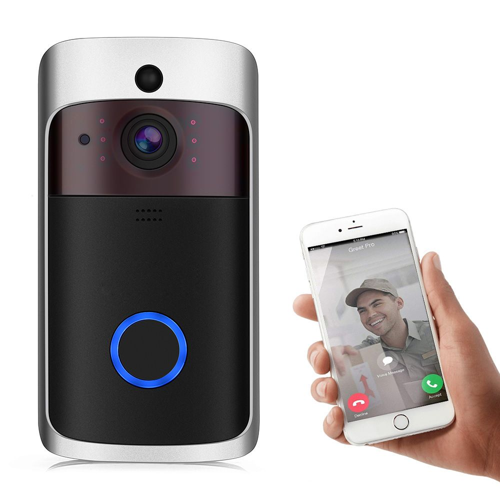 Smart Video Doorbell 720P Home Security Camera (Motion ...
