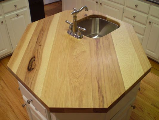 High Quality Hickory Countertop. Wood CountertopsKitchen Ideas